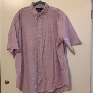 Purple Polo Short Sleeve Button Up Size XXL